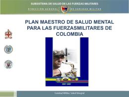 plan maestro de salud mental para las fuerzasmilitares de colombia