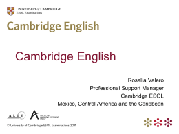 Cambridge ESOL - Sistemauno.com