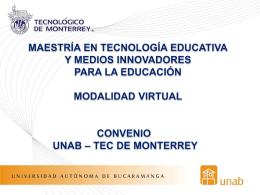 Maestro(a) en Tecnología Educativa - Intra-UNAB