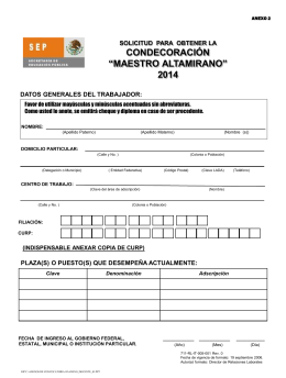 """Solicitud para obtener la condecoración """"Maestro Altamirano"""""""
