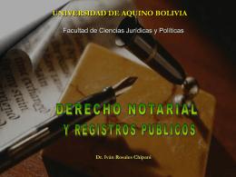 Segunda Parte - Notarios de Bolivia