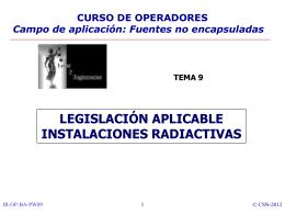 RD sobre Inst. Nucleares y Radiactivas