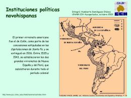 Instituciones políticas novohispanas
