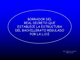 Borrador Real Decreto de mínimos LOE