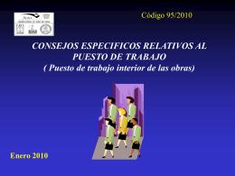 CONSEJOS ESPECIFICOS RELATIVOS AL PUESTO DE - AURA-O
