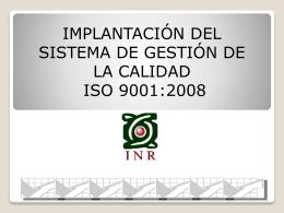 SGC - Instituto Nacional de Rehabilitación
