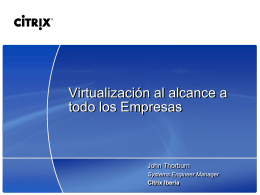 Citrix roadshow - Jose Maria Gonzalez