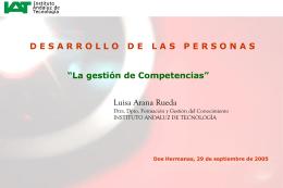La gestión de Competencias ( Jornada Innovación Dos Hermanas )
