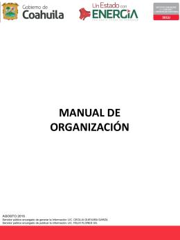 manual de organización - Coahuila Transparente