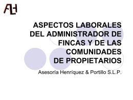 SEGURIDAD SOCIAL - Colegio Oficial de Administradores de