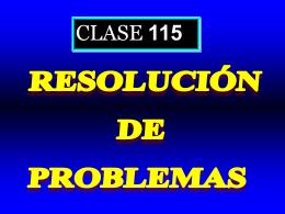 Clase 115: Resolución de Problemas