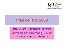planificación 2009 - Mesa Interreligiosa de Alicante MIA