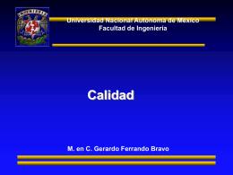 Calidad - Facultad de Ingeniería, UNAM. Desarrollo de habilidades