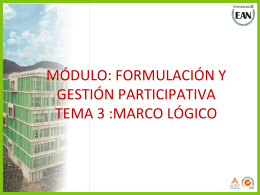 Tema 3 - Marco Logico