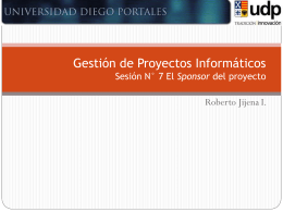 07 GPI_El Sponsor del proyecto - Roberto Jijena Infante
