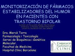 Monitorización (TDM) de fármacos estabilizadores