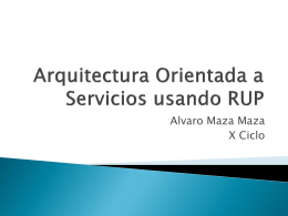 Arquitectura Orientada a Servicios usando RUP