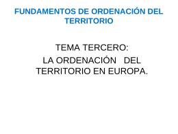Tema 3º Estrategia Territorial Europea