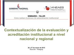 Contextualización de la evaluación y acreditación