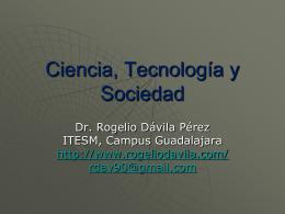 Tecnología y Sociedad - Página oficial del Doctor Rogelio Davila