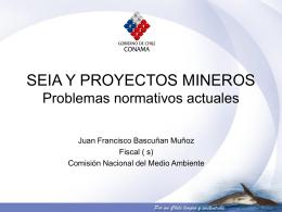 SEIA y Proyectos Mineros. Problemas Normativos Actuales