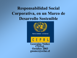 Corporate Social Responsibility in a Sustainable Development
