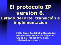 Algunos proyectos IPv6