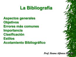 Curso bibliografia