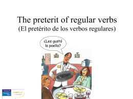 Preterit of regular verbs