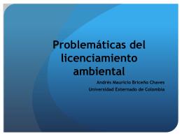 Problemáticas del licenciamiento ambiental en la jurisprudencia