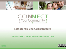 Comprando una Computadora - Connect Your Community 2.0