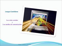 Lengua Castellana Las redes sociales y Los medios de comunicación