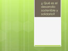 El desarrollo sostenible - Página de recursos educativos del