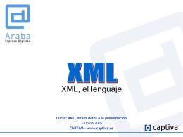 XML, de los datos a la presentación