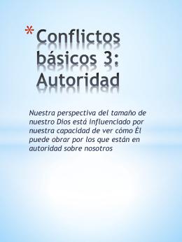 Conflictos3 Conflictos con autoridad