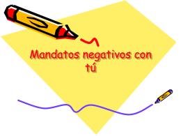 Mandatos negativos con tú