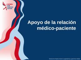 Apoyo de la relación médico-paciente