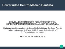 Universidad Centro Médico Bautista