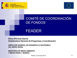 Comité de Coordinación de Fondos. FEADER
