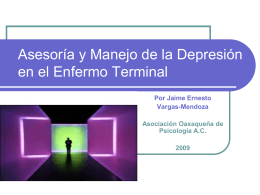 Asesoría y Manejo de la Depresión en el Enfermo