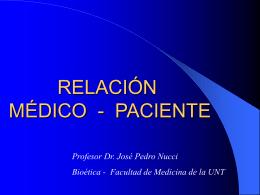 RELACIÓN MÉDICO - PACIENTE - medicina-del-trabajo