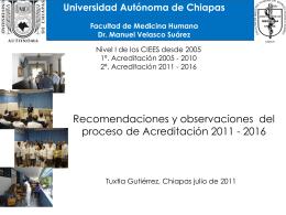 Recomendaciones COMAEM - Facultad de Medicina Humana
