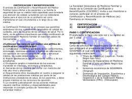 Pasos para acreditarse - Sociedad Venezolana de Medicina Familiar