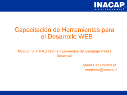 Capitulo 04 - HTML Parte I
