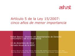 Presentacion Jornada Anual AEDC