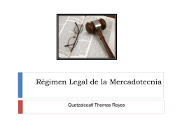 Regimén Legal de la Mercadotecnia