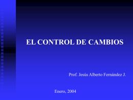 4. Control de Cambios - UCAB