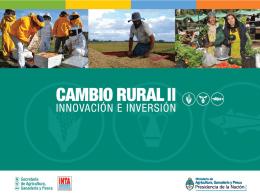 Presentación Cambio Rural Innovación e Innversión