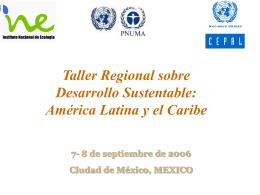 Diapositiva 1 - Instituto Nacional de Ecología