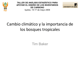 Introducción al cambio climático y a la importancia de los bosques
